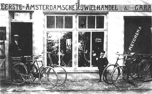 De Wilde in front of his father's shop