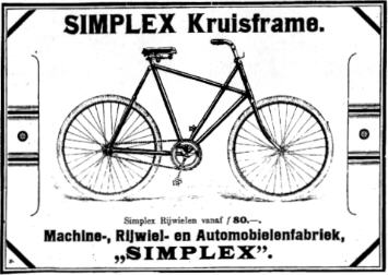 the first Simplex cross frame